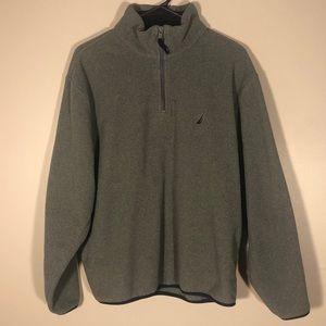🦩Men's Nautica Gray 1/4 Zip Fleece Pullover
